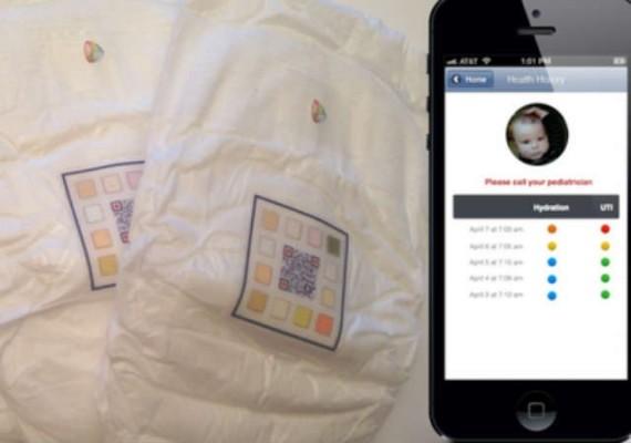 Умный подгузник передает информацию на телефон