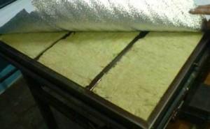 Технология укладки теплоизоляционных материалов на дверь