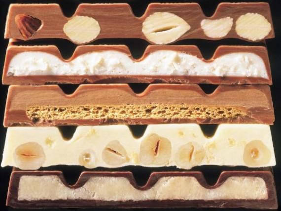 шоколад с различными начинками
