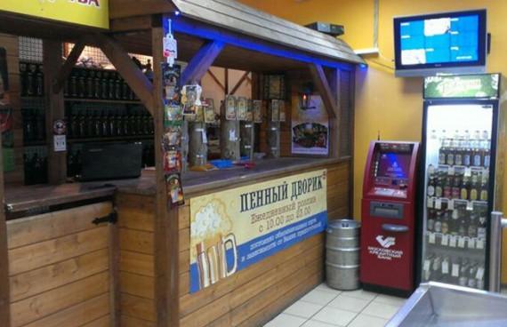 Для того чтобы разместить в магазине десять кранов с пивом, потребуется помещение на 25-30 квадратных метров