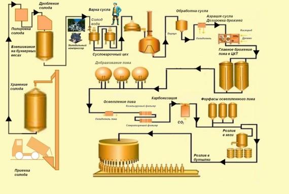 Схема варки пива
