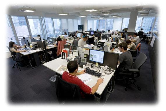 Обычный офис в одном из мегаполисов России