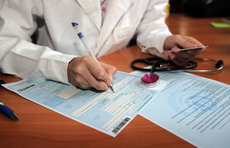Заполнение больничного листа врачом