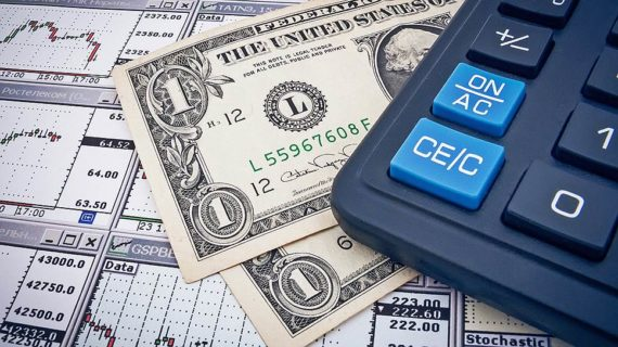 Доллары США и калькулятор
